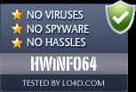 HWiNFO64 is free of viruses and malware.