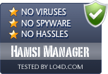 Hamsi Manager is free of viruses and malware.
