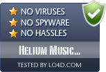Helium Music Manager is free of viruses and malware.