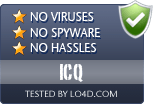 ICQ is free of viruses and malware.