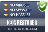 IconRestorer is free of viruses and malware.