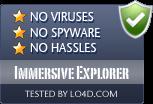 Immersive Explorer is free of viruses and malware.