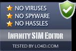 Infinity SIM Editor is free of viruses and malware.