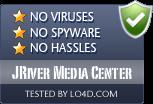 JRiver Media Center is free of viruses and malware.