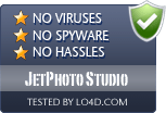 JetPhoto Studio is free of viruses and malware.