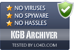KGB Archiver is free of viruses and malware.