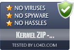 Kernel ZIP - Corrupted Archive Recovery is free of viruses and malware.