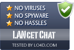 LANcet Chat is free of viruses and malware.