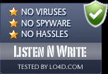 Listen N Write is free of viruses and malware.