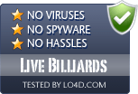 Live Billiards is free of viruses and malware.