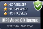 MP3 Audio CD Burner is free of viruses and malware.