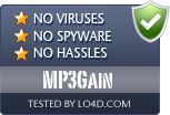 MP3Gain is free of viruses and malware.