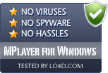MPlayer for Windows is free of viruses and malware.