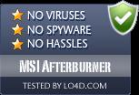 MSI Afterburner is free of viruses and malware.