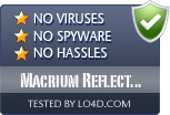 Macrium Reflect Free is free of viruses and malware.