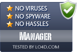 Manager is free of viruses and malware.