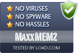 MaxxMEM2 is free of viruses and malware.