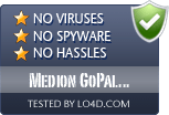 Medion GoPal Assistant is free of viruses and malware.