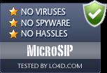 MicroSIP is free of viruses and malware.