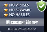 Microsoft Money is free of viruses and malware.