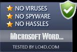 Microsoft Word Viewer is free of viruses and malware.