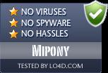 Mipony is free of viruses and malware.