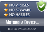 Motorola Device Manager is free of viruses and malware.