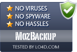 MozBackup is free of viruses and malware.