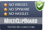 MultiClipBoard is free of viruses and malware.
