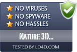 Nature 3D Screensaver is free of viruses and malware.