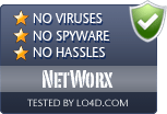 NetWorx is free of viruses and malware.