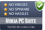Nokia PC Suite is free of viruses and malware.