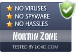 Norton Zone is free of viruses and malware.