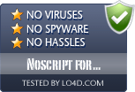 Noscript for Firefox is free of viruses and malware.
