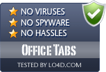 Office Tabs is free of viruses and malware.