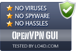 OpenVPN GUI is free of viruses and malware.