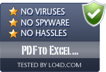 PDF to Excel Converter is free of viruses and malware.