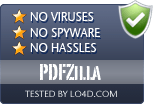 PDFZilla is free of viruses and malware.