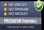 PREDATOR Firewall is free of viruses and malware.