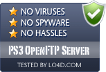 PS3 OpenFTP Server is free of viruses and malware.
