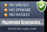 Password Generator Pro is free of viruses and malware.