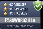 PasswordZilla is free of viruses and malware.