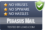 Pegasus Mail is free of viruses and malware.