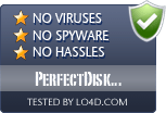 PerfectDisk Professional is free of viruses and malware.