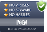 Pgen is free of viruses and malware.