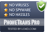 PhoneTrans Pro is free of viruses and malware.