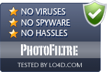 PhotoFiltre is free of viruses and malware.