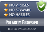 Polarity Browser is free of viruses and malware.