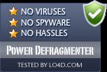 Power Defragmenter is free of viruses and malware.