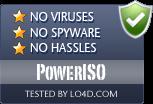 PowerISO is free of viruses and malware.
